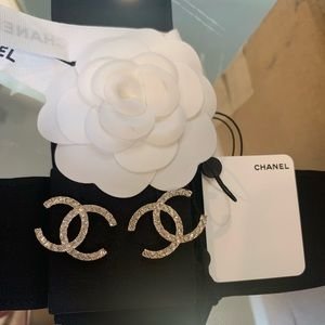 Brand New 2020 Chanel Crystal CC Earrings ❤️❤️❤️